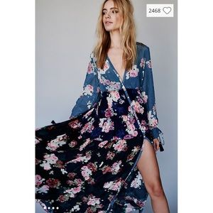 Free People Mixed Floral Maxi Dress
